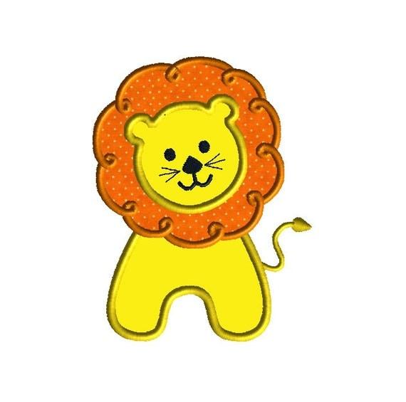 Lion Applique Machine Embroidery DesignINSTANT DOWNLOAD