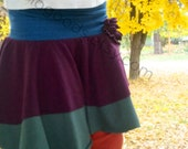 Organic Colorblock Skirt, Twirly Skirt for Girls