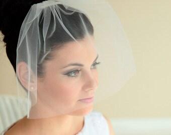 Simple Birdcage veil, bridal veil, wedding veil, short veil