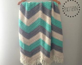 Chevron Crochet Baby Blanket Pattern