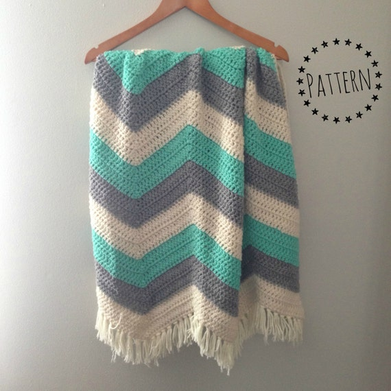 Crochet Pattern Chevron Baby Blanket : Chevron Crochet Baby Blanket Pattern