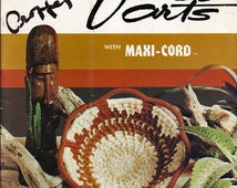 Fiber Arts With Maxi-Cord  Macrame Pattern Book Great Yarns Inc. 976