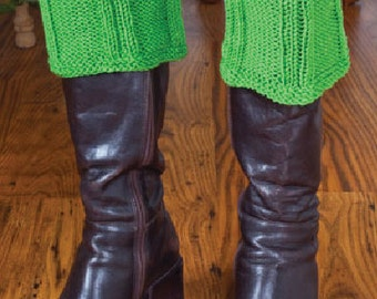 Easy Knitting patterns  E pattern ribbed boot cuffs reversible