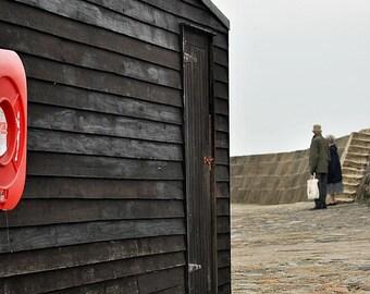 photographic print: The Cobb at Lyme Regis, England