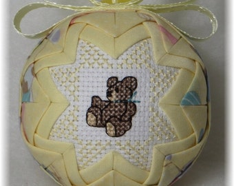 Baby's First Christmas Ornament - Baby/Teddy Bear - Boy or Girl
