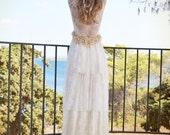 Wedding Dress, Beach Wedding Dress, Boho Wedding Dress, Lace Wedding Dress, Simple Wedding Dress, Alternative Wedding Dress, Wedding Dress