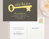 Key Moving Announcement Postcard / Magnet / Flat Card - New Home Card, New Address Card, New Home Announcement, Change of Address Magnet