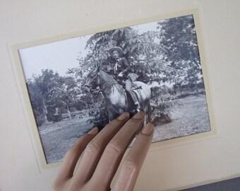 1950s Photo Portrait Cowboy & Horse