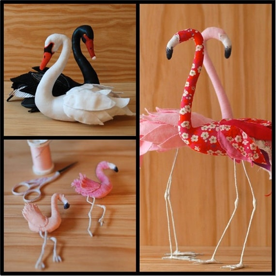 3 bird patterns swan decorative flamingo and flamingo brooch. Black Bedroom Furniture Sets. Home Design Ideas