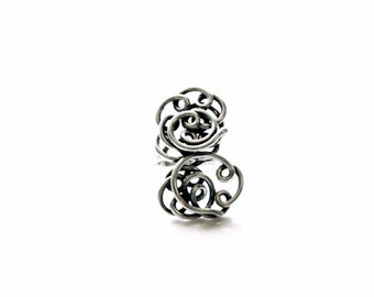 Modern Handmade Hand-wrought Sterling Silver ring. Beautiful Vintage Twist Ring - 'Spiral Twist Ring'
