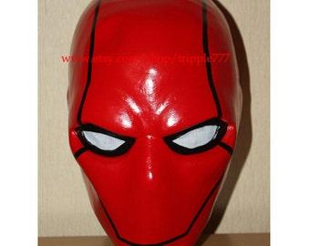 Batman Red Hood Mask, Red Hood Costume, Red Hood Cosplay, Halloween Costume, Halloween Cosplay, Halloween Mask, Red Hood Prop LA15