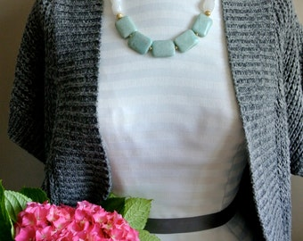 Aqua, White & Grey Mixed Necklace
