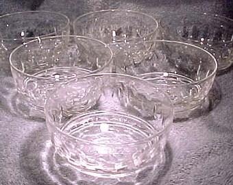 Antique Cut Glass Finger Bowls Set of 6 Good Quality Victorian