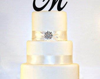 Custom - 5 inch Monogram Acrylic Wedding Cake Topper in Any Letter A B C D E F G H I J K L M N O P Q R S T U V W X Y Z