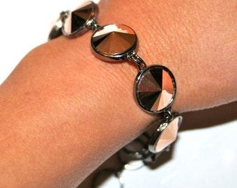 Rose Gold Swarovski Crystal Rhinestone Bracelet