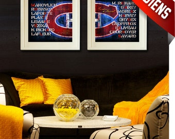 Montreal Canadiens - Customized Greatest Players Art Prints - Wedding, Graduation, Birthday, Anniversary, Father's Day- UNFRAMED prints