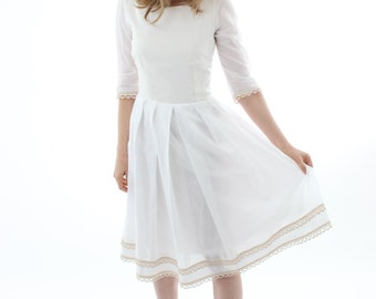 Organic cotton white dress