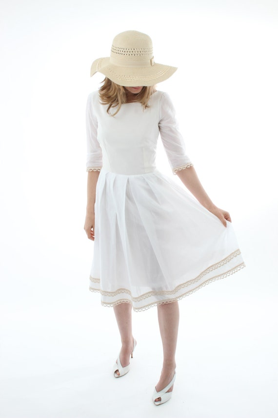 Organic cotton white dress