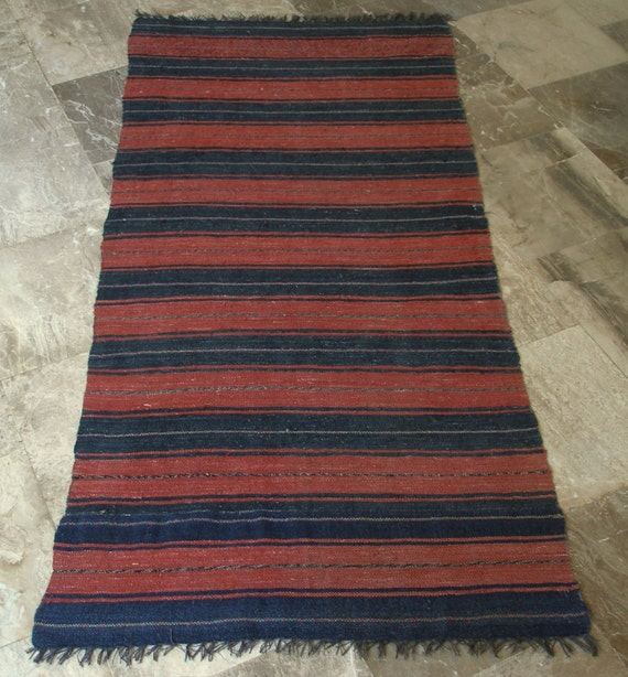 Vintage Rug Runner Cotton Wool Long Rag By VintageHomeStories