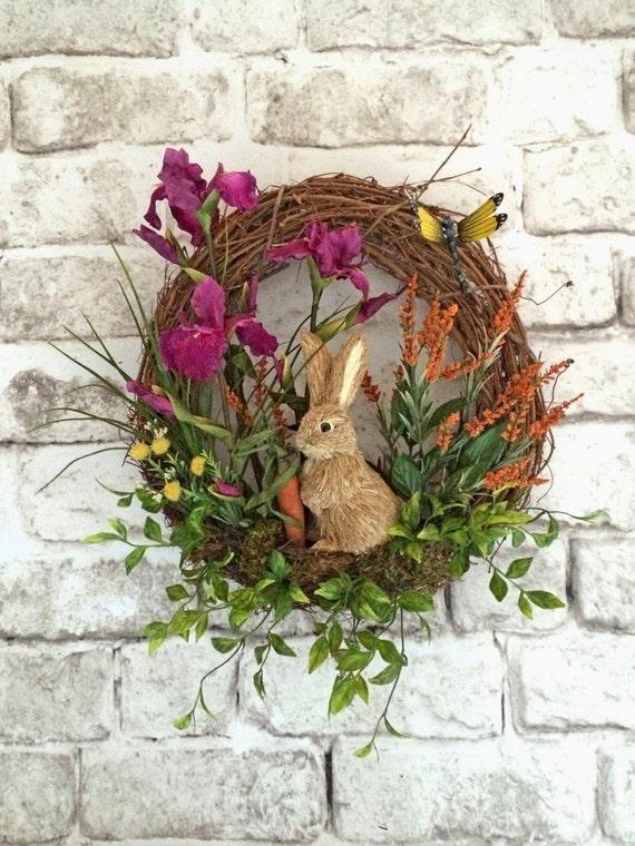 Spring Wreath Easter Bunny Rabbit