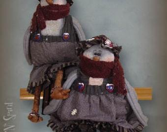 "Pattern: Betty and Blu Birt - 14"" Winter Birds- Set of 2 Patterns"