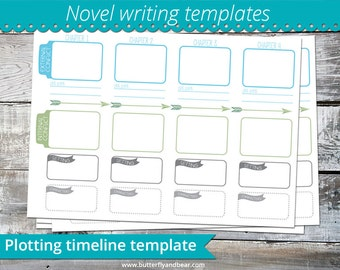 Plotting timeline template - help writing your novel A4 printable