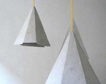 Chandelier Lighting Ceiling Light Chandelier Pendant Light Lamp -Crystals II Industrial Chandelier Modern Hanging Lamp Grey Paper Mache Lamp