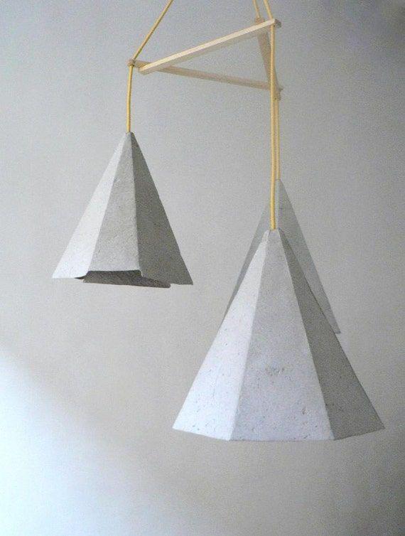 Paper Mache Lamp Crystals II Lamp Pendant Light By CreaReDesign