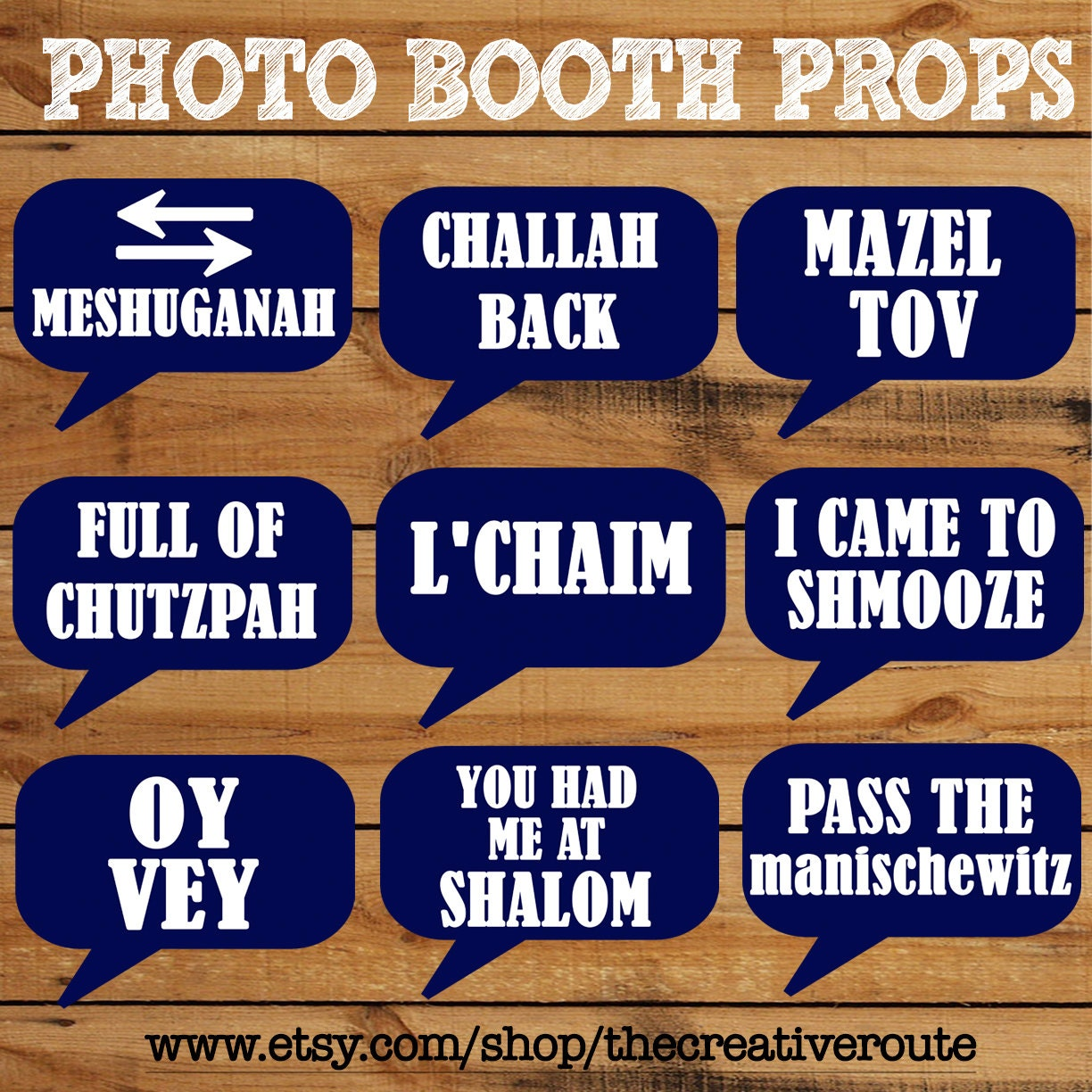 DIY Photo Booth Printables Chalkboard Signs by WhiskerWorks |Printable Photo Booth Sayings