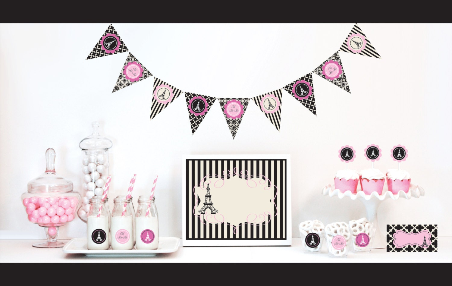Paris Themed Party Decorations Kit Bridal Shower By Modparty