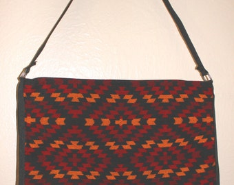 Native American Style Southwestern Shoulder Bag purse Amerind Navajo Pueblo amerindien indio handtasche