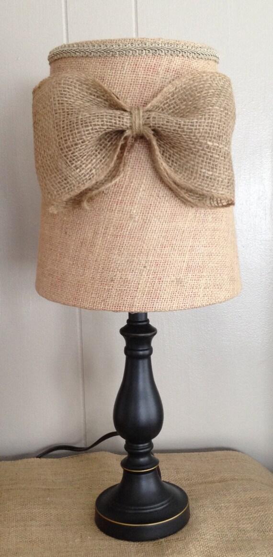 Burlap Lamp Shades : Burlap lamp shade