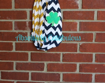 Notre Dame inspired appliquéd infinity scarf