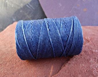 4 Ply Royal Blue Waxed Irish Linen Thread 10 Yards WIL-10,blue linen thread,navy irish linen,rustic linen thread,waxed linen cord,