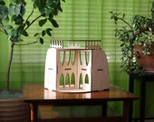 The ARC Dollhouse - An original, designer 1:16 scale wooden miniature house for kids and collectors