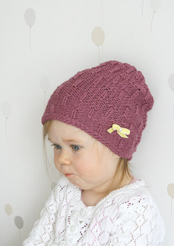 Toddler Beanie Knitting Pattern : KNITTING PATTERN baby beanie hat Hadda by MukiCrafts on Etsy