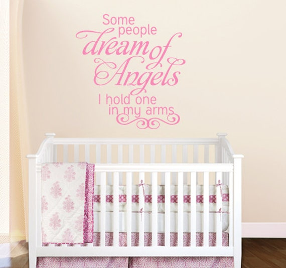 NURSERY Wall Decal Some People Dream Wall Art Baby Vinyl Lettering Childrens Decor