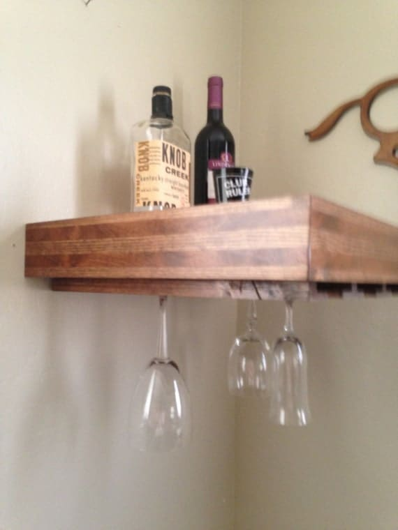 wine rack wine glass holderfloating shelf wineglass. Black Bedroom Furniture Sets. Home Design Ideas