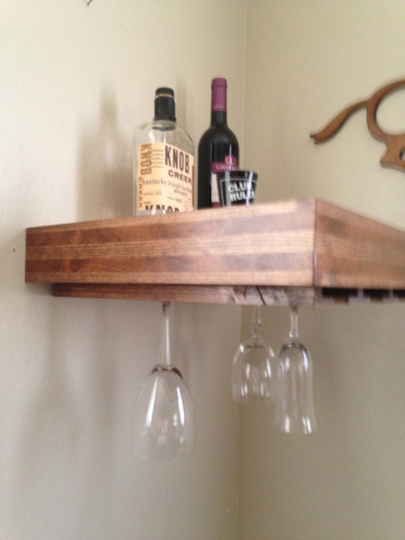 Wine Rack Wine Glass Holderfloating Shelf Wineglass