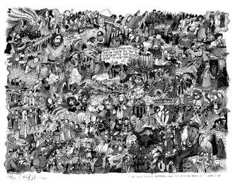 The Gospels art print: The life of Jesus in one illustration