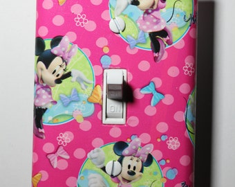 Minnie Mouse Disney Jr Light Switch Plate Cover girls child kids room home decor bedroom mickey mouse