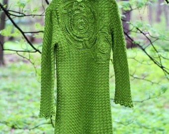 Green Forest Freeform Dress