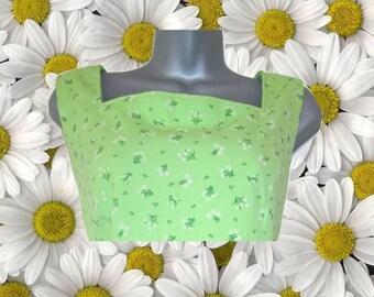 plus size dress vintage mod floral green extra large xl 10 12