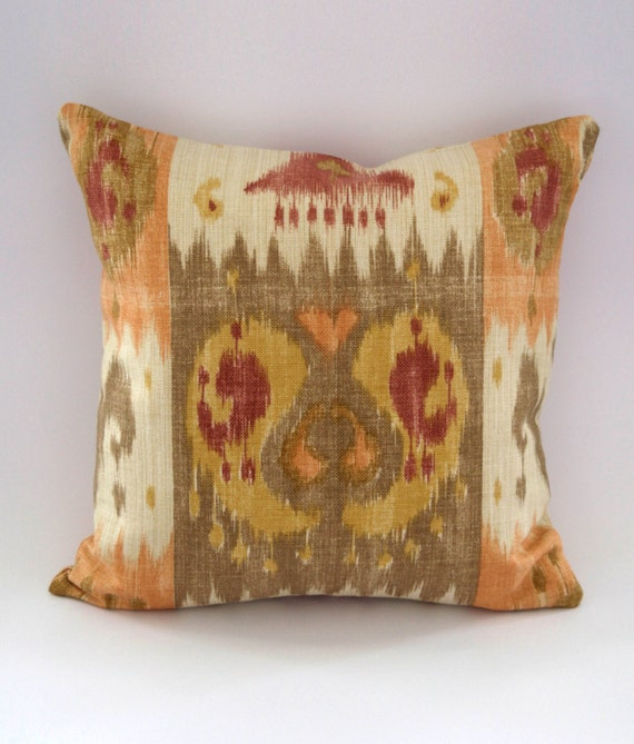 Cushion/ Pillow Cover Southwestern Terracotta Stone & Gold