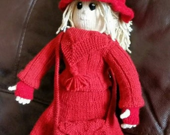 Hand Knitted Breanna Witch Doll