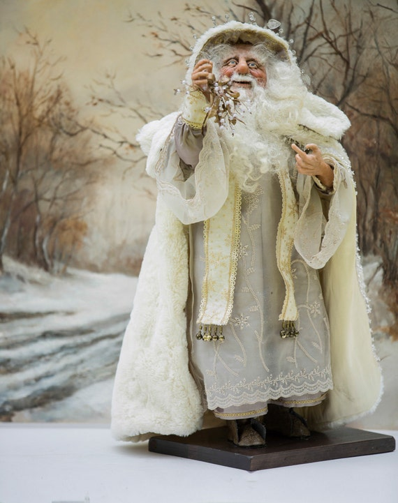 Ooak Santa Handcrafted Christmas Santa Doll By Artist Walt