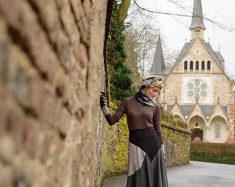 Skipping Stones Skirt SMALL-MEDIUM handmade, eco fashion, upcycled fashion, fall fashion, vintage, tartan, plaid, tweed, one of a kind