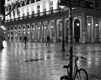 Paris Photography, Black and White Paris Bicycle Print, Paris Bicycle Art, Paris Black and White Photography, Paris Bicycle Wall Art Prints