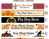 Halloween Etsy Banner Selections 1 - Etsy Banners - Etsy Shop Banners