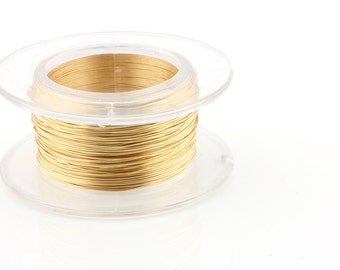 25% OFF!! WIRE - 22g (AWG) Gold - Enamel Copper Wire - 8 yard spool.